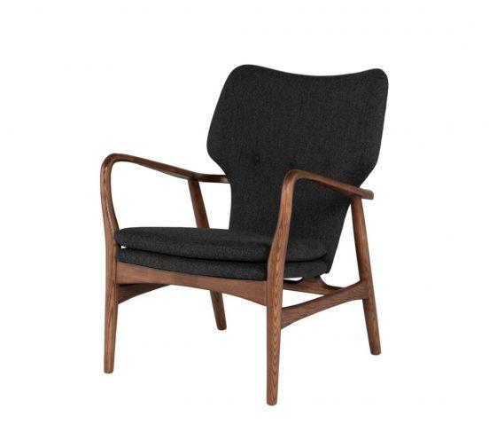 patrik occasional chair - dark grey