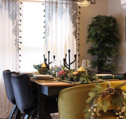 holiday dining atmosphere