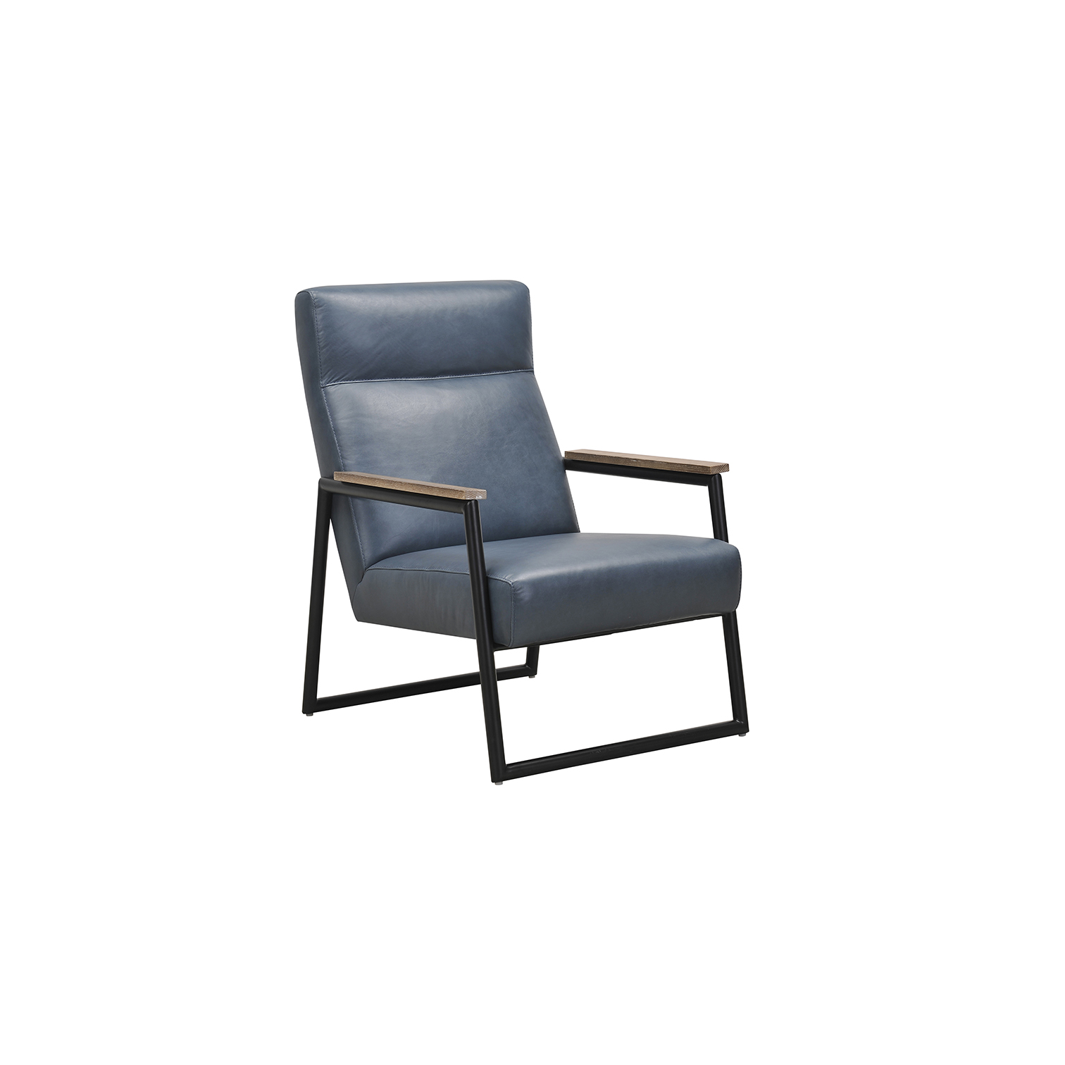 Blue Leather Armchair - Park Furnishings
