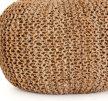 Jute Knit Pouf