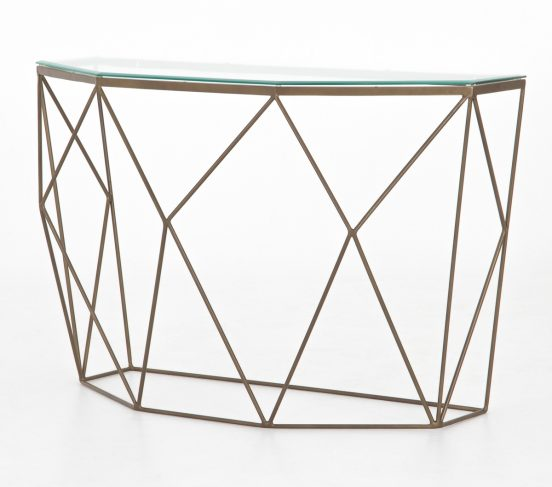 geometric console table