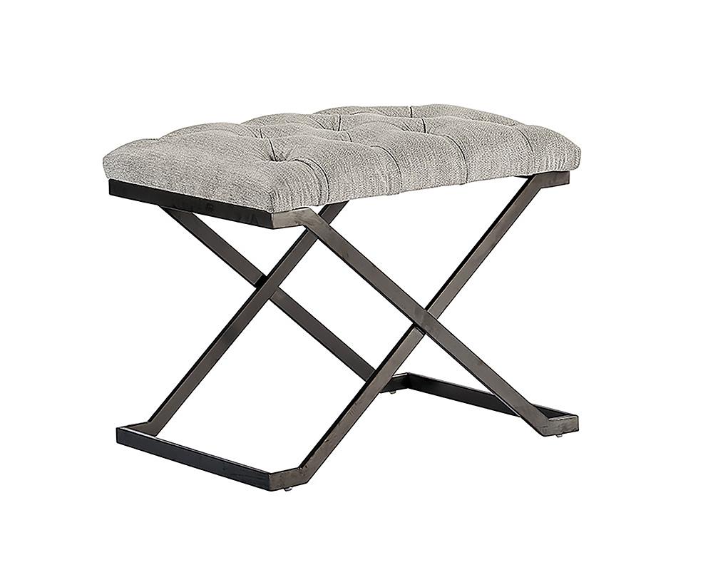 coral stool   gunmetal